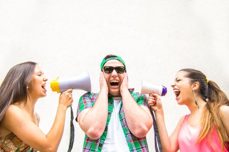 Women with megaphones
