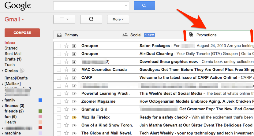 The Gmail Promo Tab
