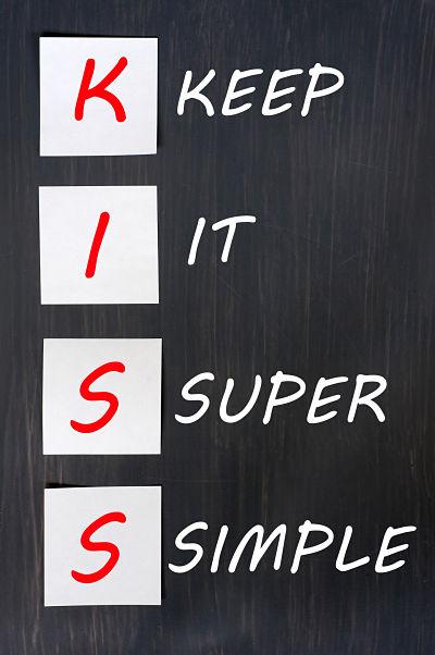 KISS acronym on a blackboard