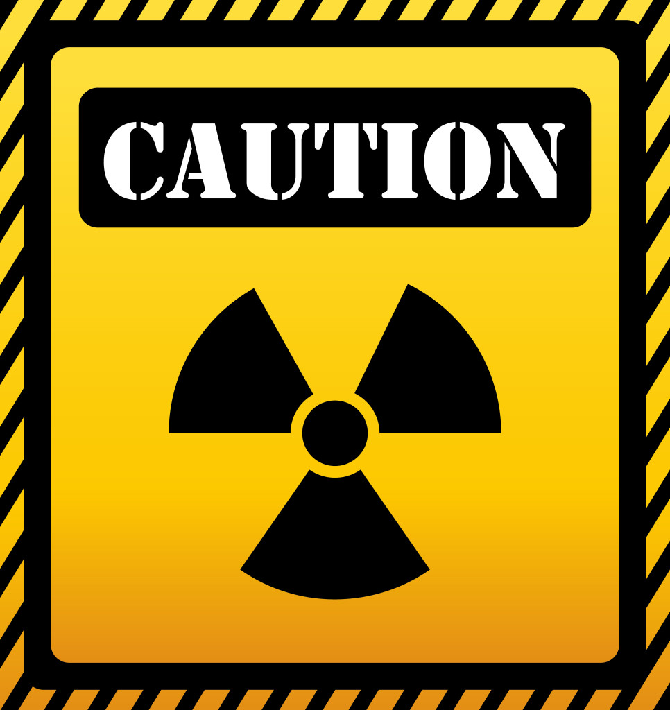 Caution design over yellow background, vector illustration.