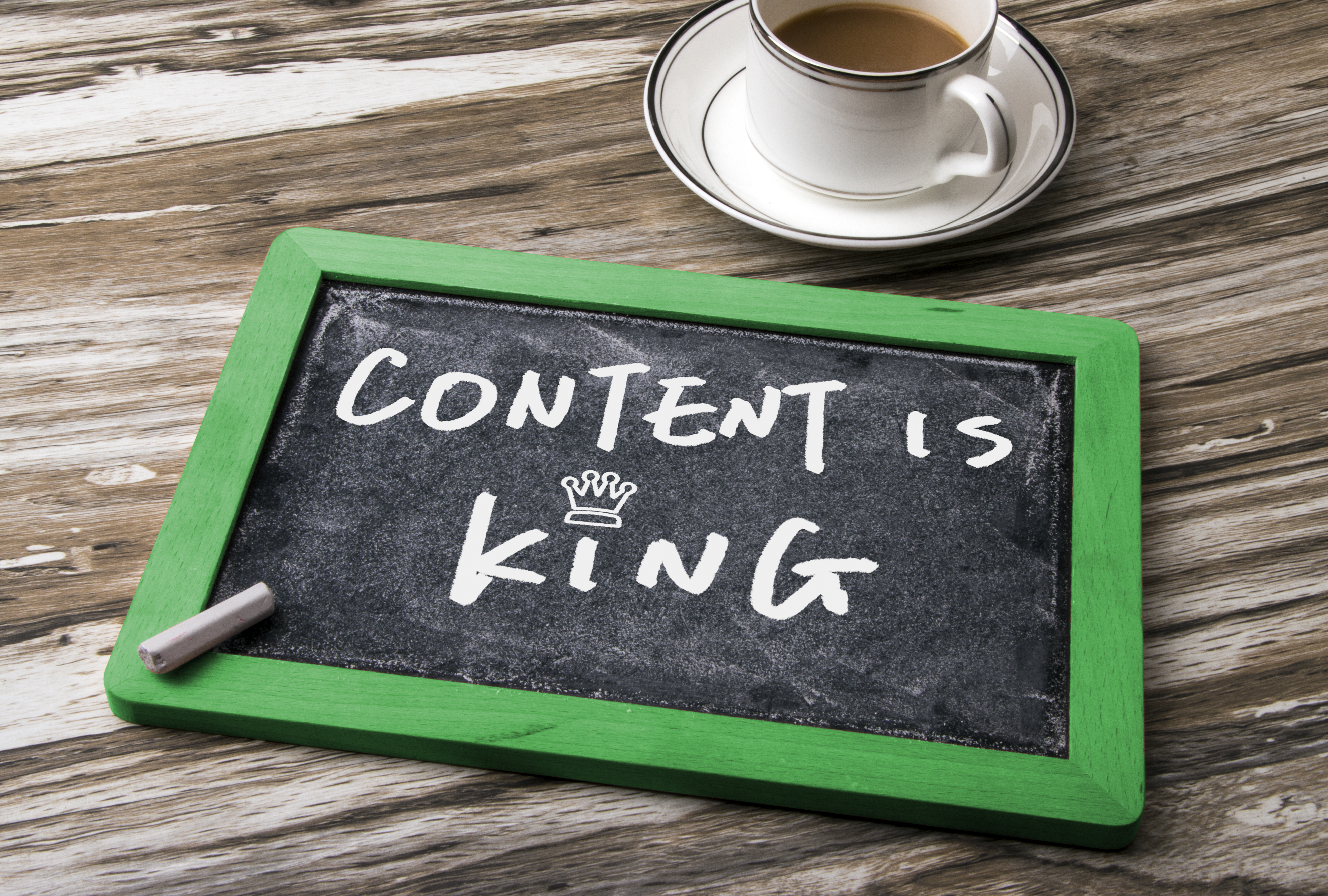 content is king handwritten