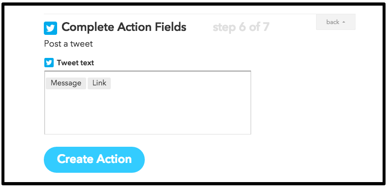 IFTTT Action Field