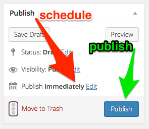 How to Schedule or Publish a WordPress Post How to Set Up WordPress Today